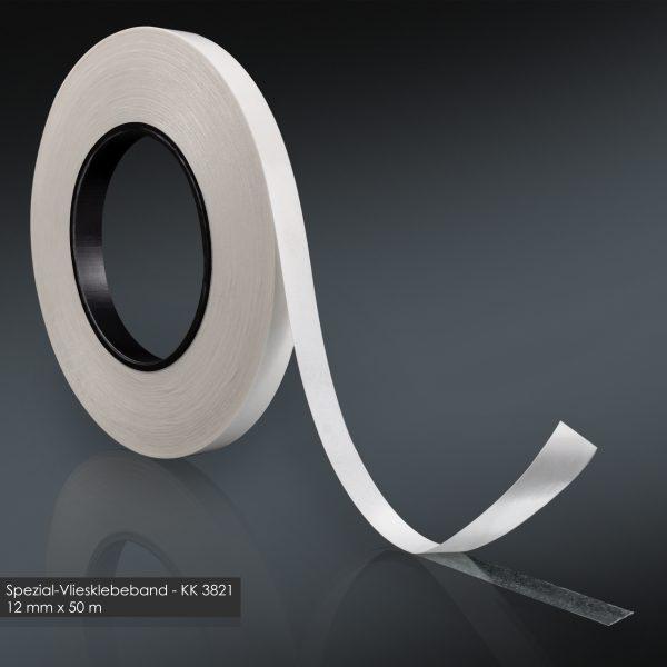Doppelseitiges Klebeband 12mm x 50m handreißbar Vliesklebeband